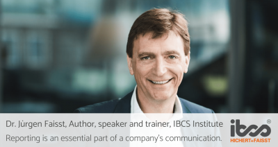 [INTERVIEW] Dr. Jürgen Faisst, Author, speaker and trainer, IBCS Institute | Reporting is an essential part of a company's communication