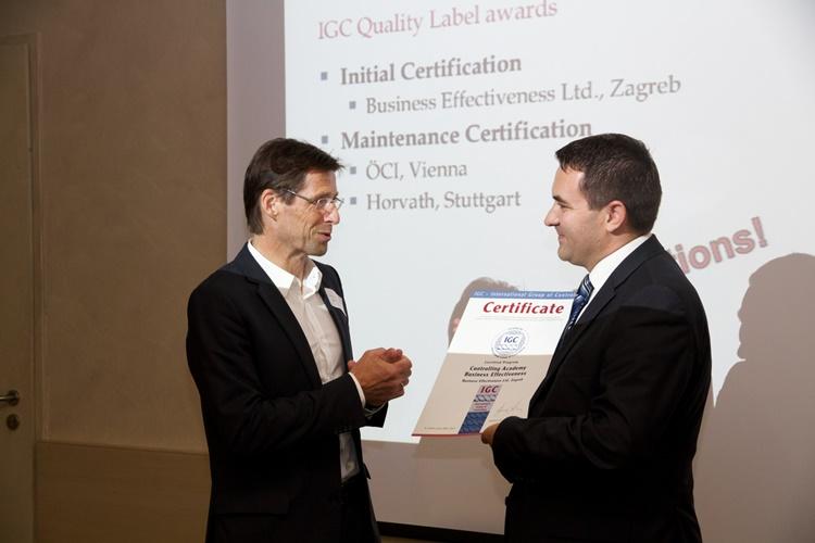 Dodjela međunarodno priznatog IGC certifikata kvalitete