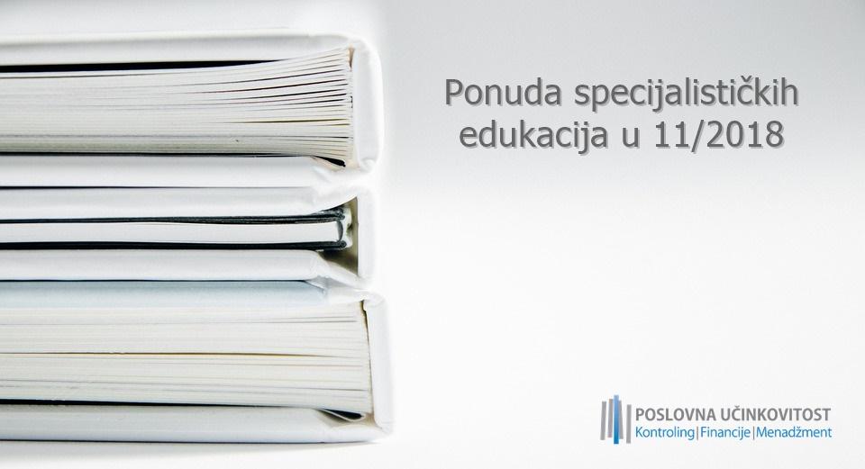 [NAJAVA] Bogata ponuda specijalističkih edukacija u 11/2018
