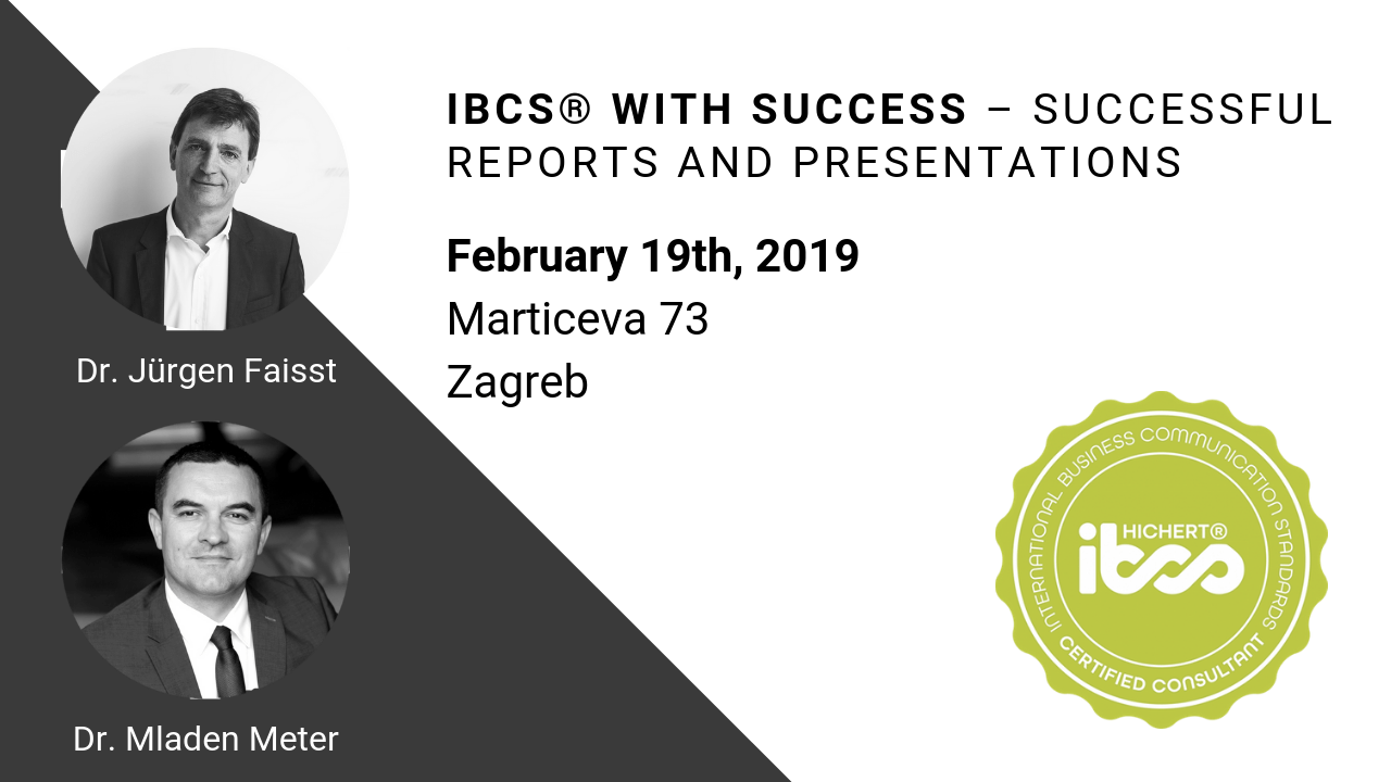 IBCS® with SUCCESS – Successful reports and presentations, February 19th, 2019