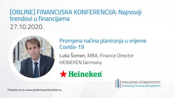[INTERVJU] Luka Šomen, Direktor financija, HEINEKEN Germany | Ubrzana digitalizacija, rad od kuće i promjena načina razmišljanja i navika potrošača su pozitivne strane trenutne situacije