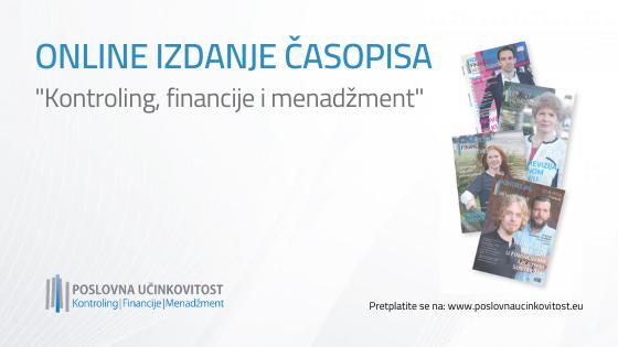"[ONLINE] Časopis ""Kontroling, financije i menadžment"""