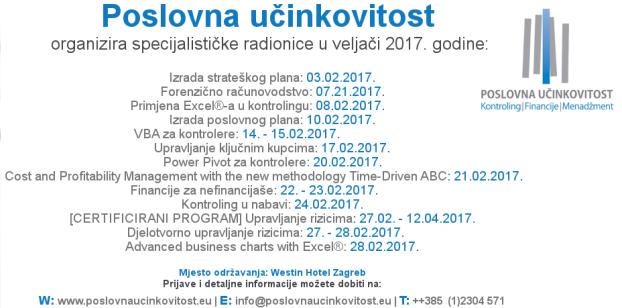 SPECIJALISTIČKE RADIONICE  U 02/2017